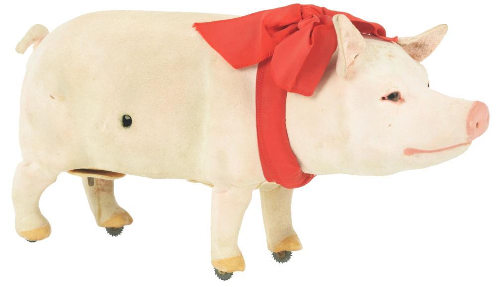 Lot 2113: Mechanical Key-Wind Pig.