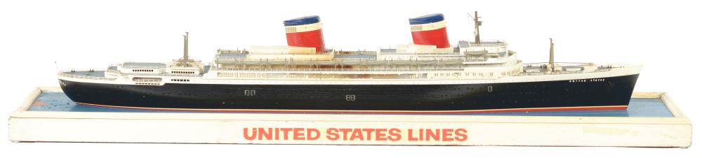 Lot 2106: Wooden United States Lines Ship.