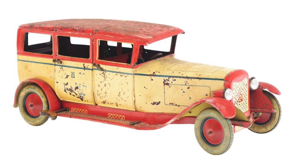 Lot 2125: German Lehmann Tin-Litho Wind-Up Automobile Toy.