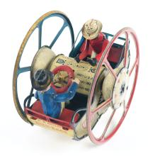 Lot 2128: German Lehmann Tin-Litho Wind-Up Zig-Zag-Zick-Zack Toy.