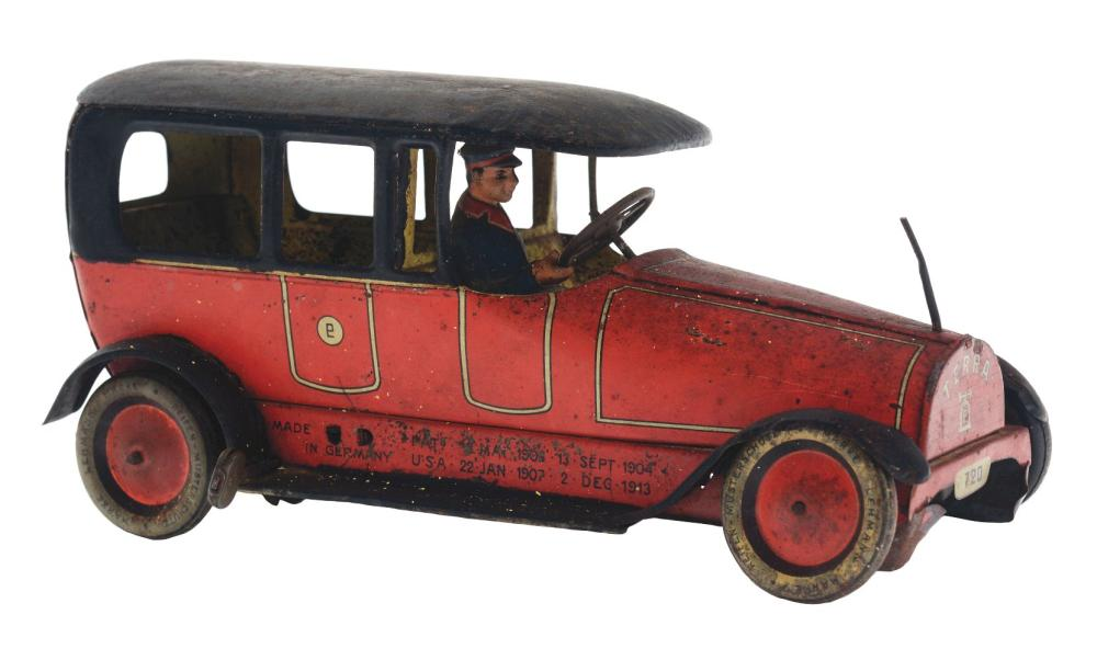 German Lehmann Tin-Litho Wind-Up Terra Automobile.