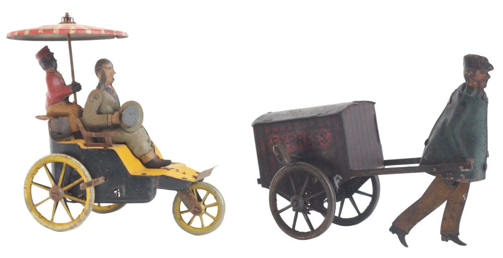Lot 2122: Lot of 2: German Lehmann Tin-Litho Wind-Up Toys.