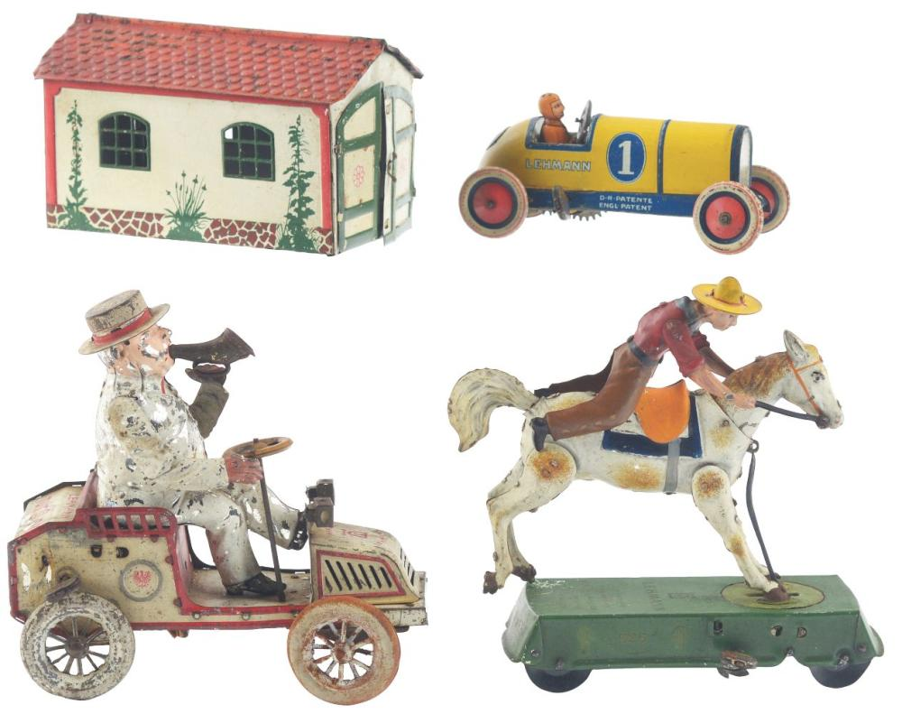 Lot of 3: German Lehmann Tin-Litho Toys.
