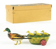 Lot 2126: German Lehmann Paak-Paak Duck Wind-Up Toy with Original Box.