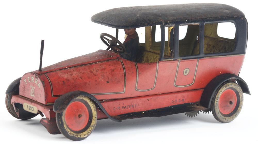 Lot 2127: German Lehmann Tin-Litho Wind-Up Terra Automobile.