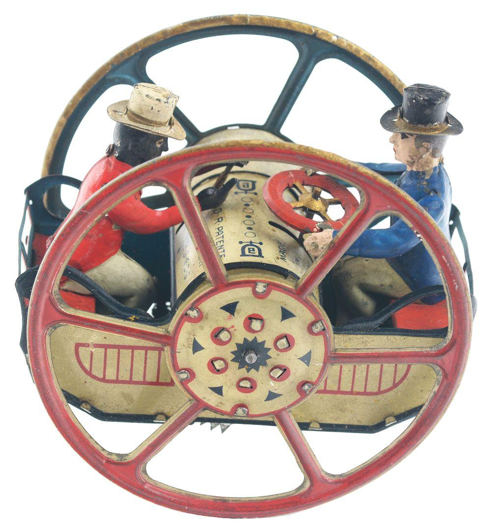 German Lehmann Tin-Litho Wind-Up Zig-Zag-Zick-Zack Toy.