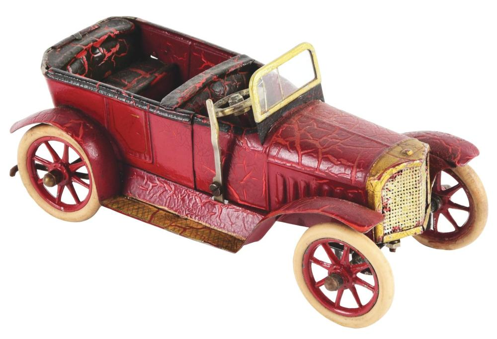 Scarce Early German Clockwork Hand-Painted Marklin Torpedo Auto.