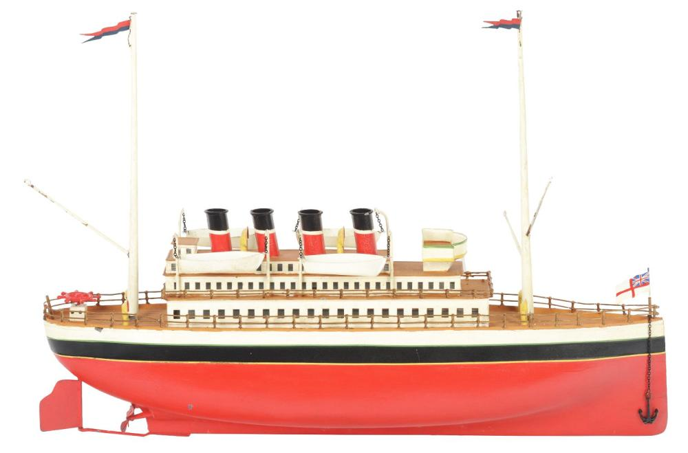 Lot 2137: Early German Carette Clockwork Ocean Liner.