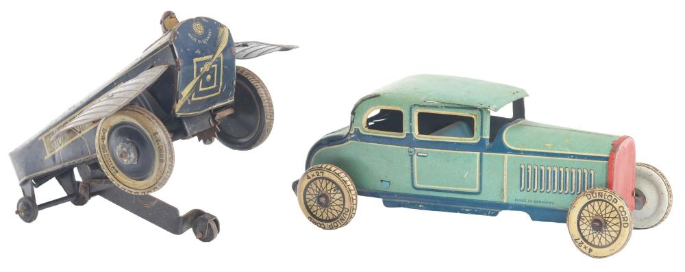 Lot of 2: German Tin-Litho Wind-Up Transportation Toys.