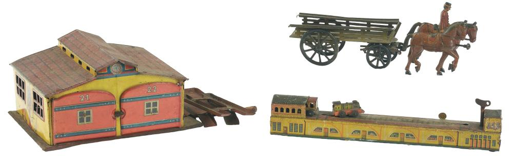 Lot of 3: Various German Transportation Related Toys.