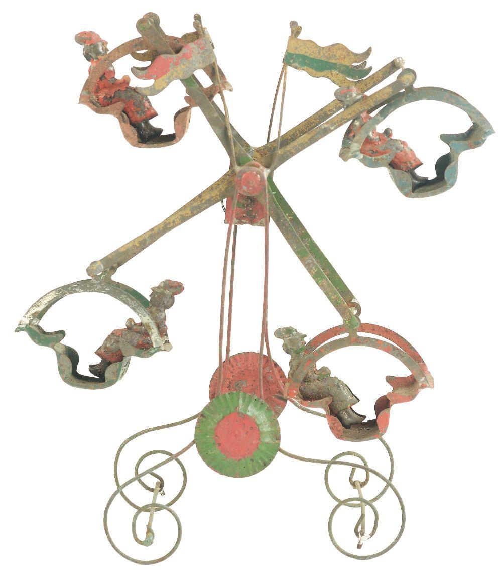 Early German Tin-Litho Wind-Up Ferris Wheel Toy.