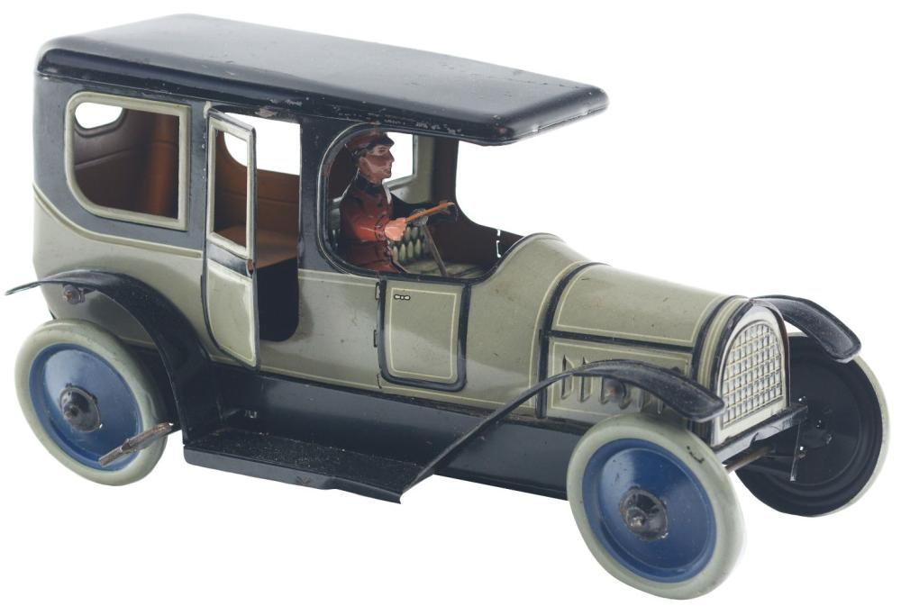German Tin-Litho Wind-Up Limousine Automobile.