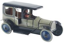 Lot 2160: German Tin-Litho Wind-Up Limousine Automobile.