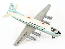 Lot 2157: German Schuco Tin-Litho Pan-American Battery Operated Airplane.