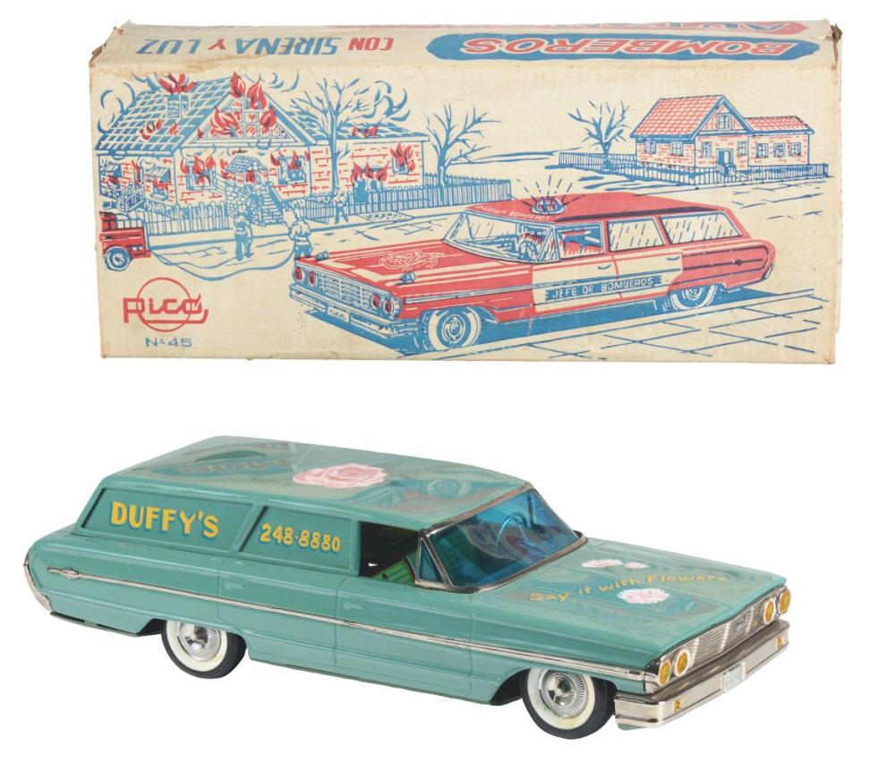 Unusual 1964 Rico Ford Duffy's Flower Delivery Wagon In Box.