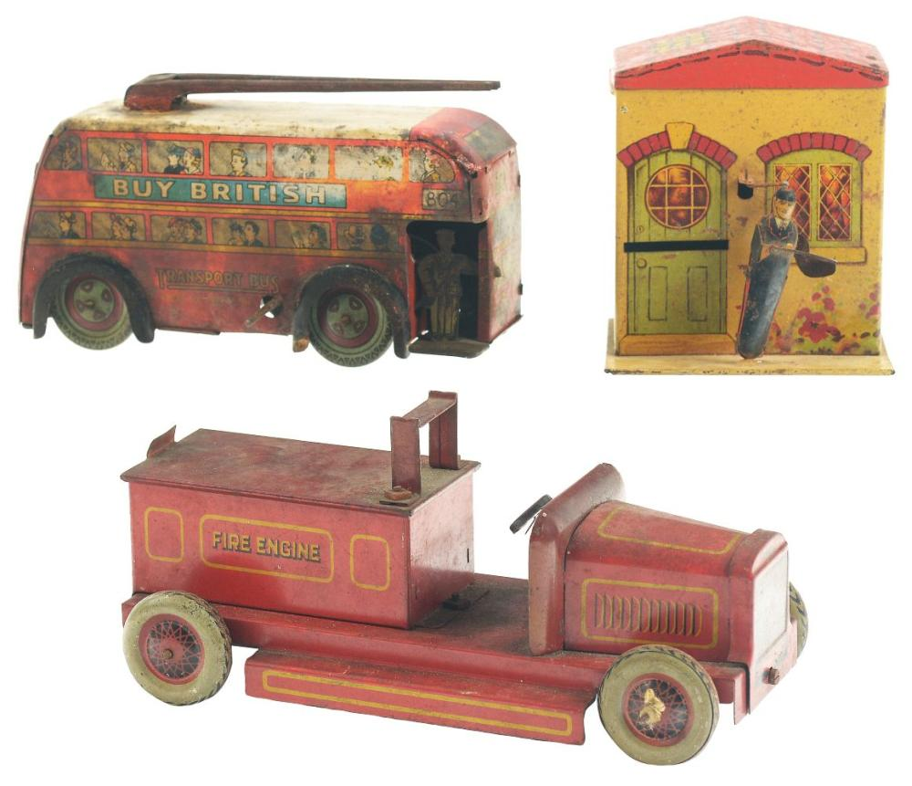 Lot 2165: Lot of 3: Pre-War English Transportation Related Items.
