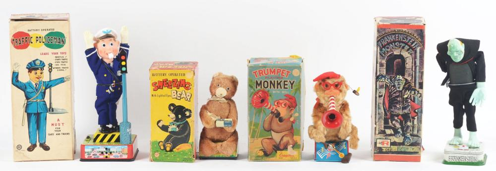 Lot 2172: Lot of 4: Japanese Battery-Operated Toys.