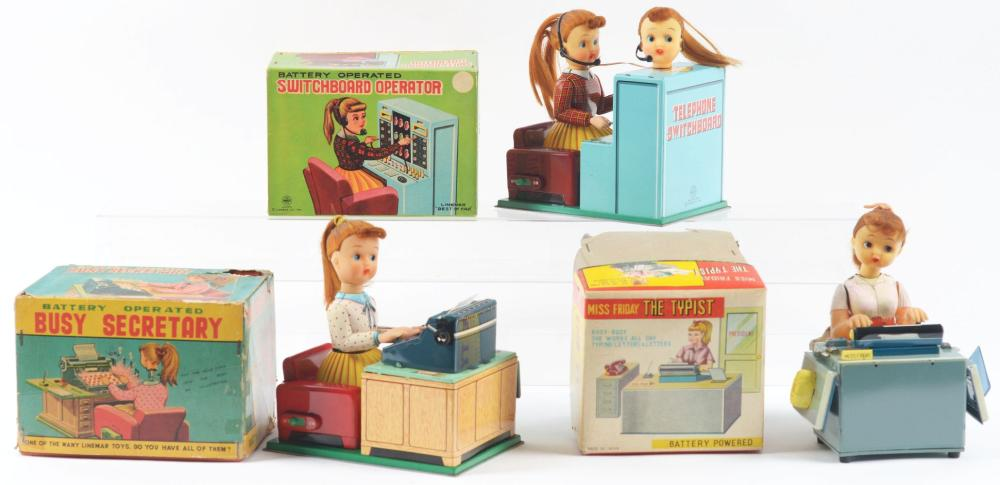 Lot of 3: Battery-Operated Secretary & Switchboard Toys.