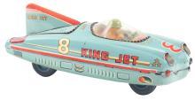 Lot 2179: Japanese Tin-Litho Friction King Jet Race Car.