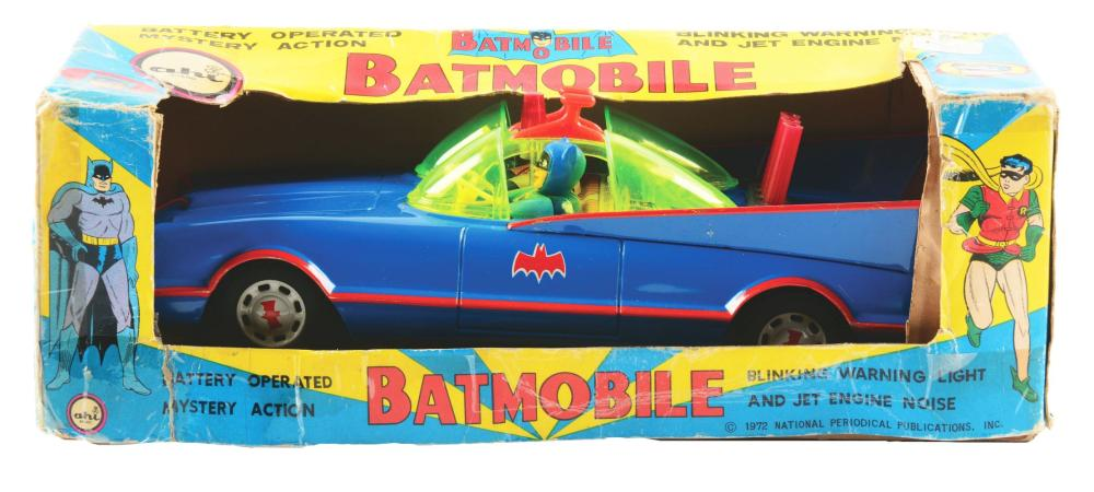 Japanese Battery-Operated Batmobile Toy.