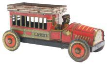 Lot 2178: Scarce Japanese Pre-War Tin-Litho Circus Cage Auto.