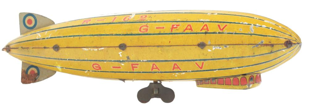 Japanese Pre-War Tin-Litho Zeppelin Toy.