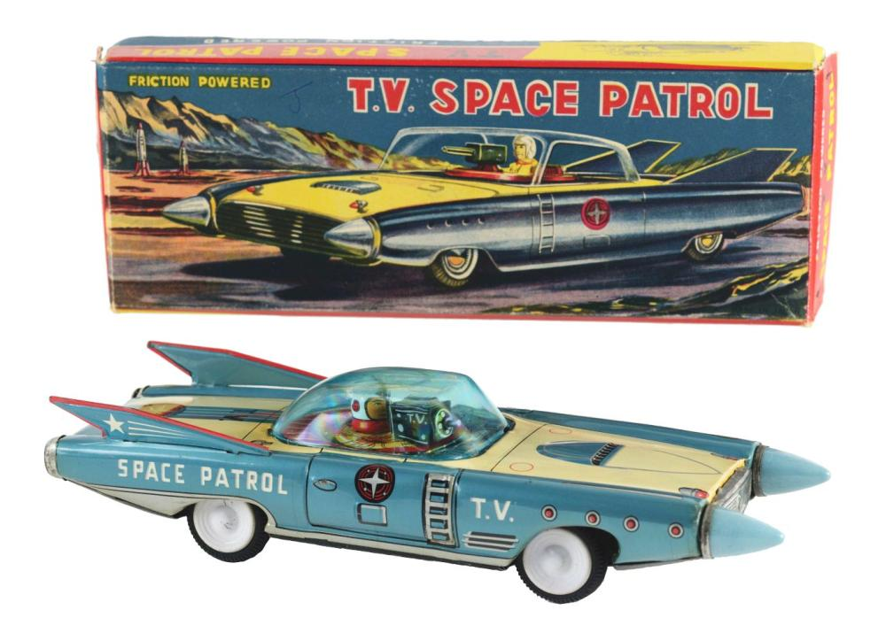 Tin-Litho Friction T.V. Space Patrol.