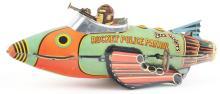 Lot 2196: Marx Tin-Litho Wind-Up Buck Rogers Rocket Police Patrol.