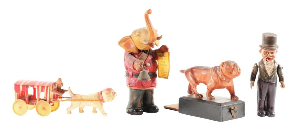 Lot 2231: Lot of 4: Japanese Celluloid Toys.