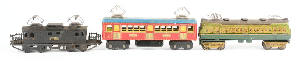 Lot 2235: Lot of 3: Pre and Post-War Japanese Train & Trolley Items.