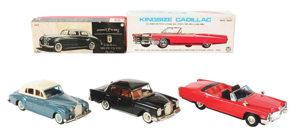 Lot 2237: Lot of 3: Japanese & Korean Friction & Battery-Operated Toy Vehicles.