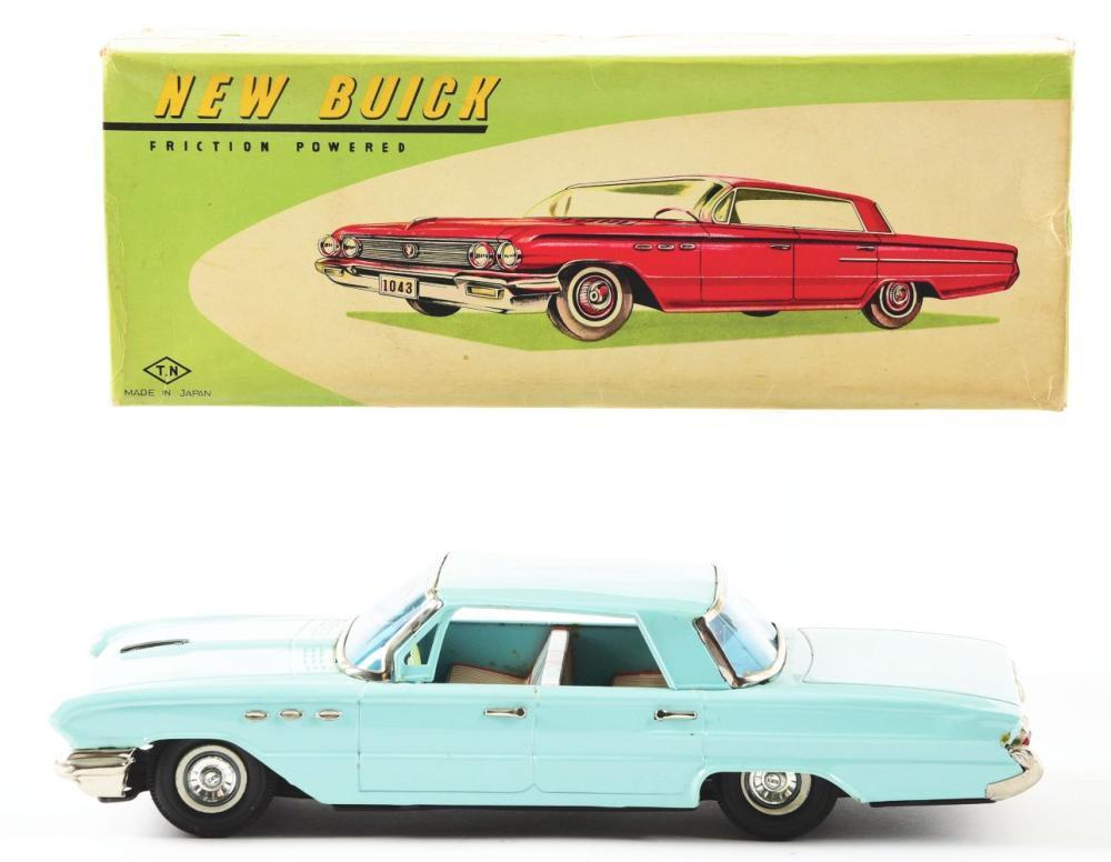 Lot 2243: Scarce Japanese Tin-Litho Friction New Buick.