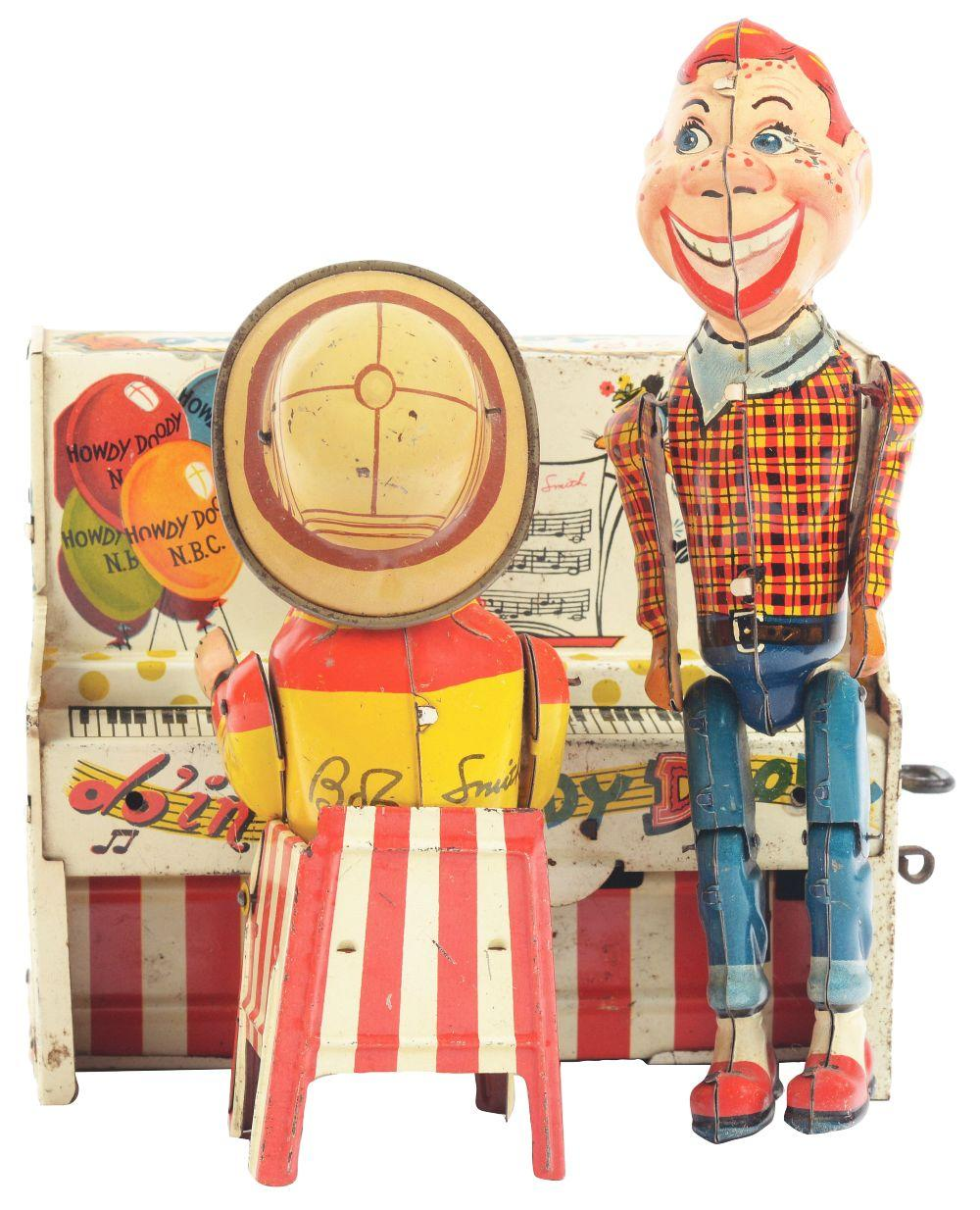 Lot 2260: Unique Art Tin-Litho Wind-Up Howdy Doody Band.