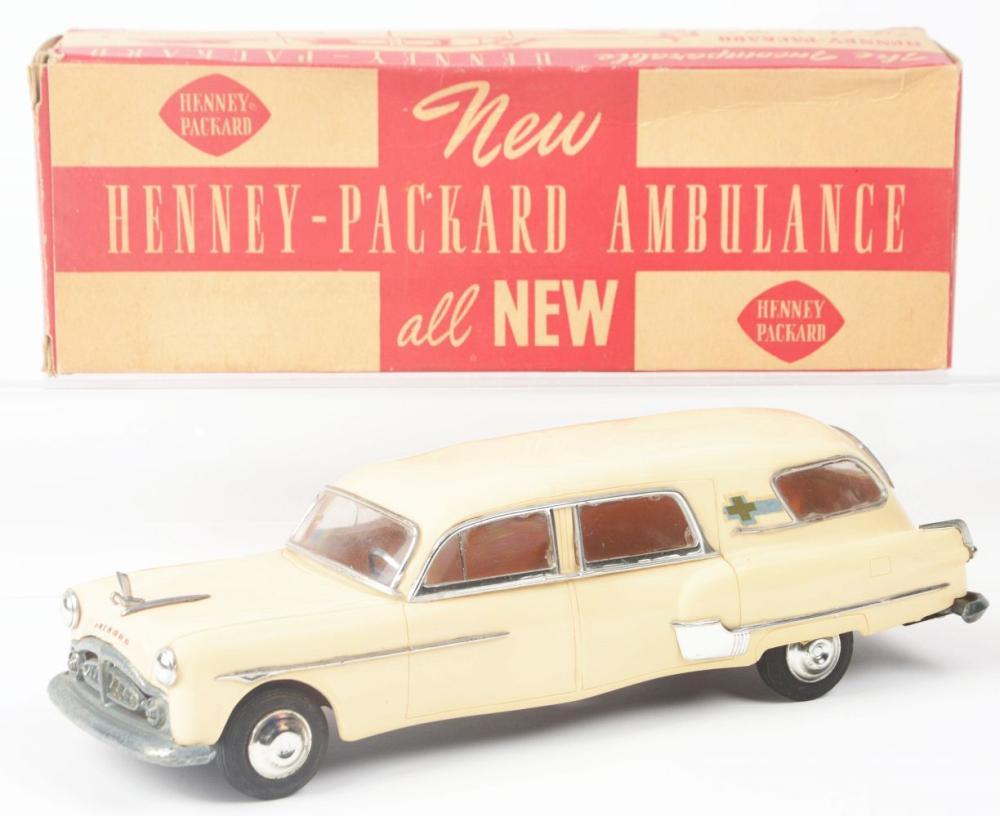 Lot 2303: Scarce 1951 Henney-Packard Ambulance Toy.