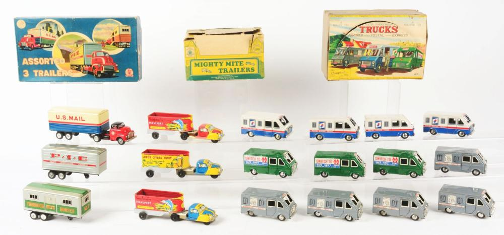 Lot 2305: Lot of 3: Japanese & American Made Store Display Type Vehicle Sets.