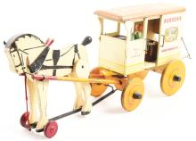 Lot 2317: Rich Toys Borden's Farm Products Milk & Cream Horse-Drawn Wagon.