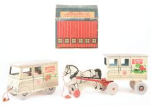 Lot 2314: Lot of 2: Tin-Litho & Wooden Sealtest Rich Toys Dairy Vehicles.