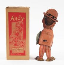 Lot 2328: Marx Tin-Litho Wind-Up Andy Walking Figure.