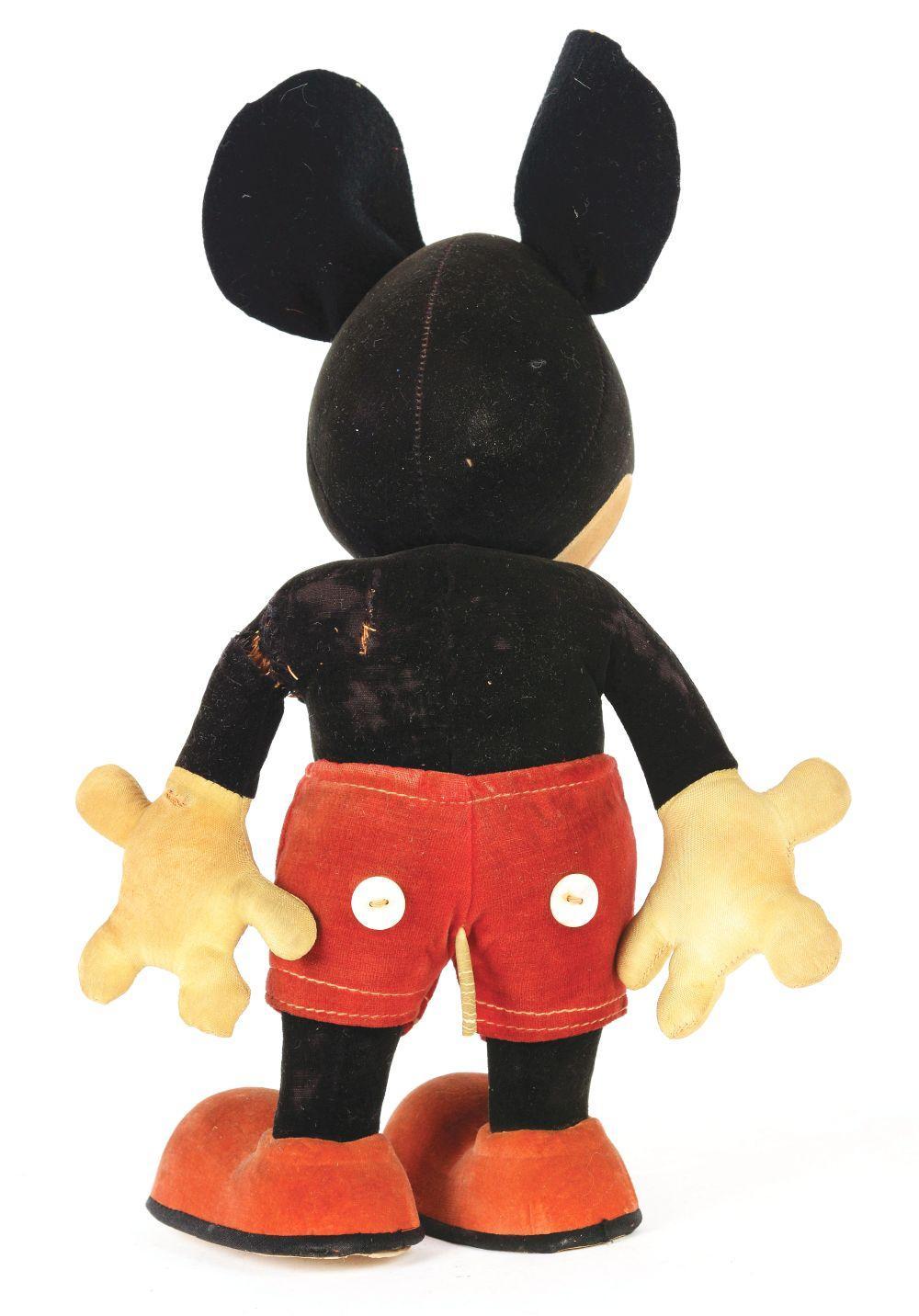 Lot 2333: Pre-War Walt Disney Pie-Eyed Mickey Mouse Doll.