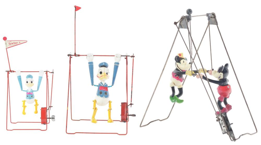 Lot 2335: Lot of 3: Walt Disney Character Swing Toys.