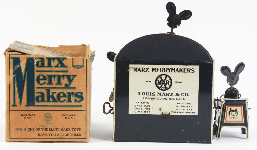 Lot 2331: Marx Tin-Litho Wind-Up Merry Makers Band Toy.