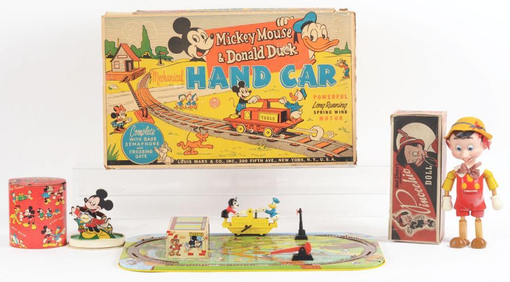 Lot 2336: Lot of 3: American Made Walt Disney Toy Items.