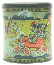 Lot 2338: Pre-War Walt Disney Tin-Litho Mickey Mouse Biscuit Tin.