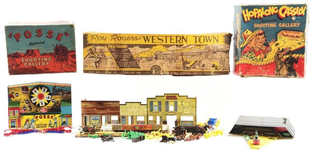 Lot 2350: Lot of 3: Various Western Themed Toy Items.