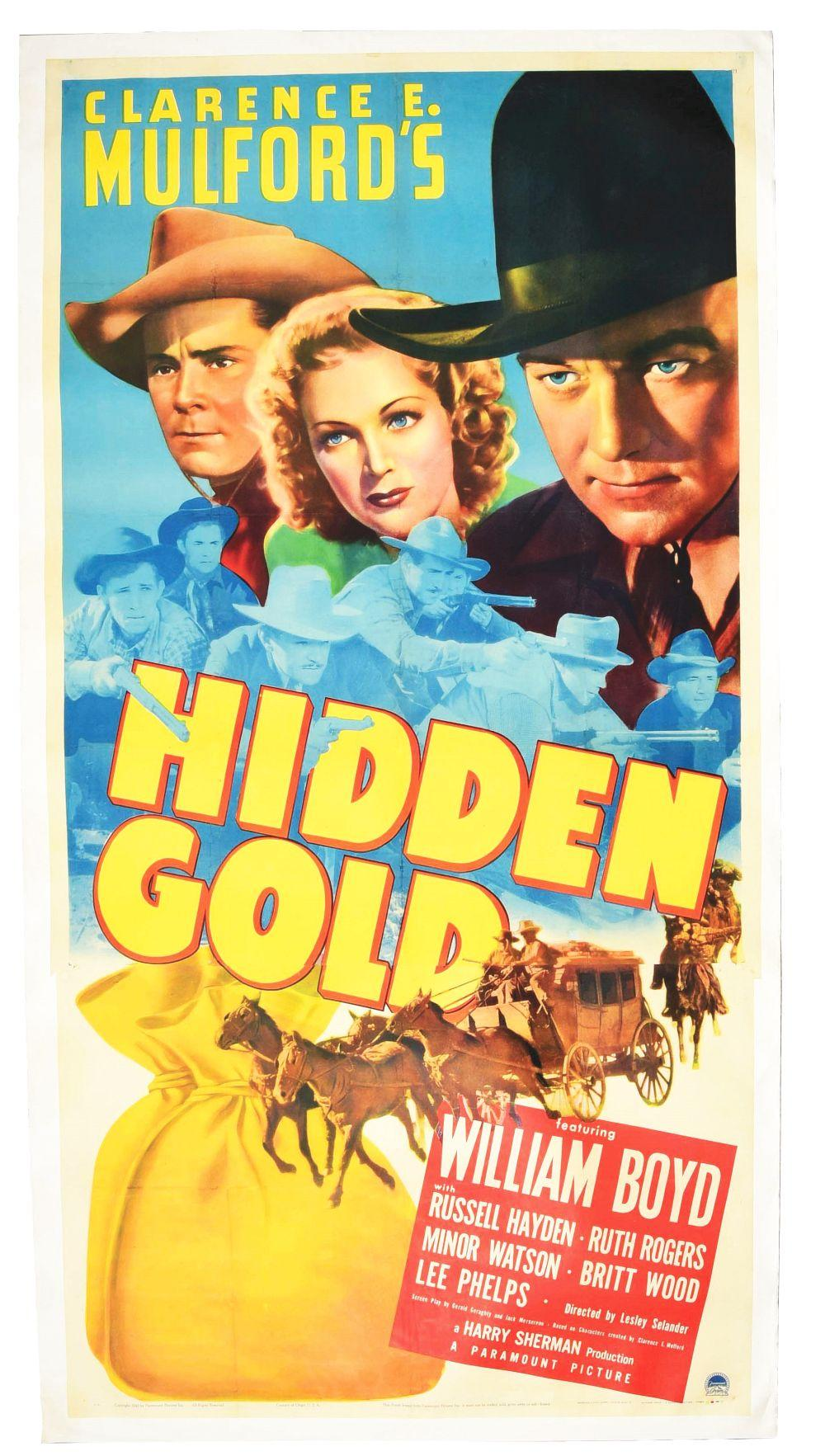 Lot 2352: Scarce William Boyd Hopalong Cassidy Movie Poster.