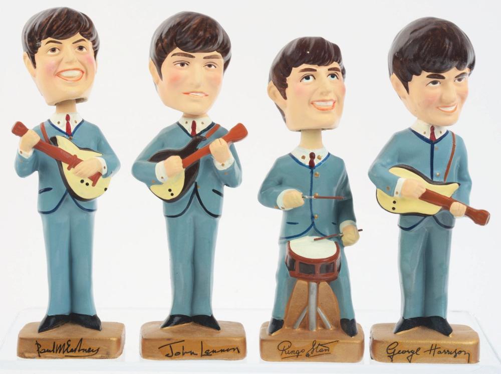 Lot 2354: Set of 1964 Car Mascot Bobb'n Head Beatles.