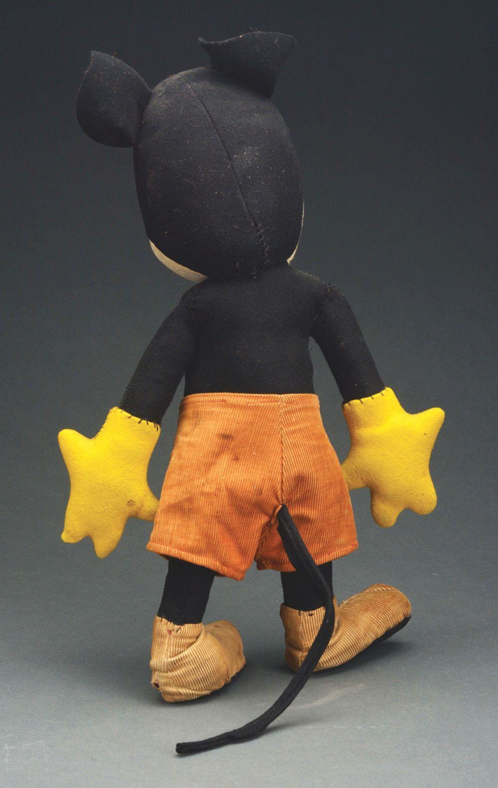 Lot 2363: Vintage Pie Eyed Mickey Mouse Cloth Doll.
