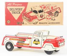 Lot 2369: Marx Tin-Litho Inter-City Delivery Service Truck.