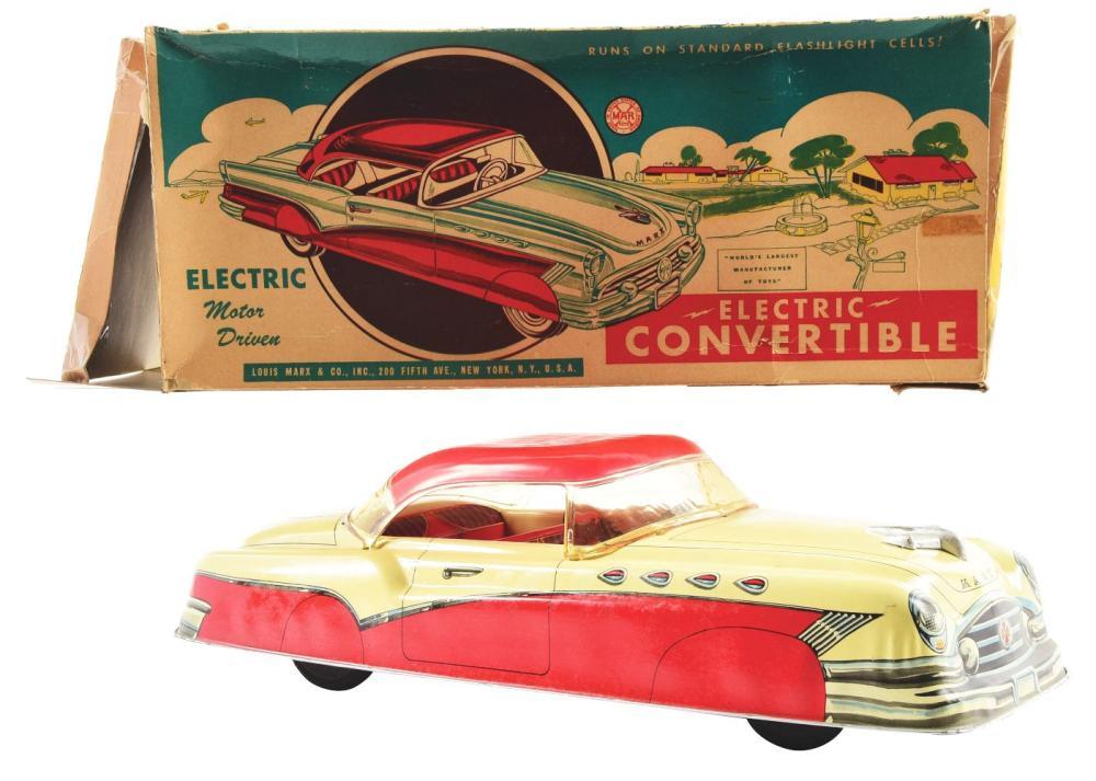 Lot 2371: Marx Tin-Litho Electric Convertible Automobile.
