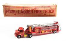 Lot 2374: Marx Pressed Steel Deluxe Heavy Duty Hook & Ladder Fire Truck.